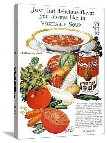Campbell's Soup Ad, 1926--Stretched Canvas Print