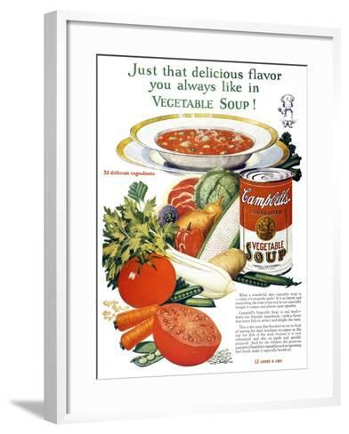Campbell's Soup Ad, 1926--Framed Art Print