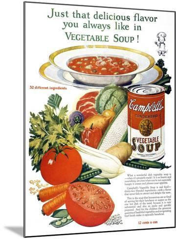 Campbell's Soup Ad, 1926--Mounted Giclee Print