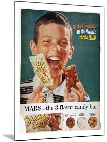 Mars Bar Ad, 1957--Mounted Giclee Print