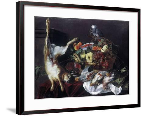 Fyt: Still Life with Parrot-Jan Fyt-Framed Art Print