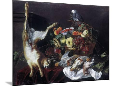 Fyt: Still Life with Parrot-Jan Fyt-Mounted Giclee Print