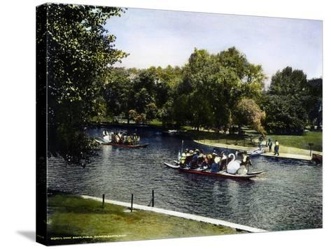 Boston: Swan Boats, c1900--Stretched Canvas Print