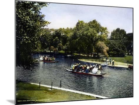 Boston: Swan Boats, c1900--Mounted Giclee Print