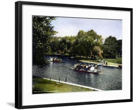 Boston: Swan Boats, c1900--Framed Art Print