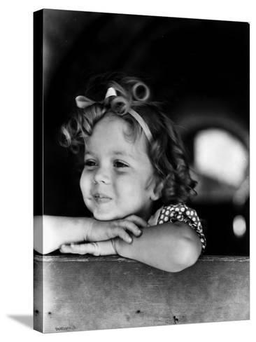 Shirley Temple (1928-)--Stretched Canvas Print