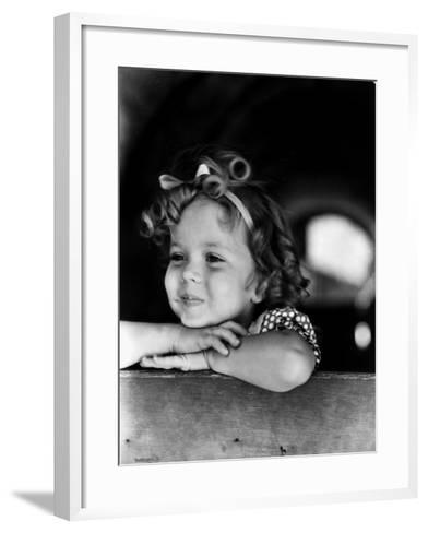 Shirley Temple (1928-)--Framed Art Print