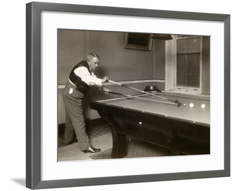 Billiard Player, c1907--Framed Art Print