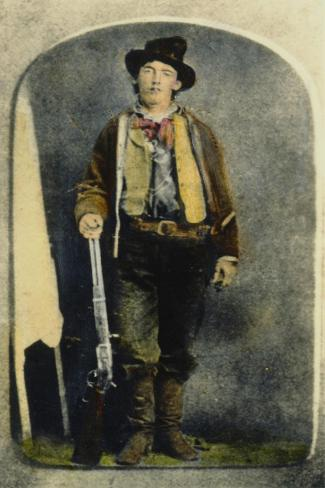 William H Bonney--Stretched Canvas Print