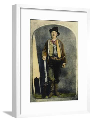 William H Bonney--Framed Art Print
