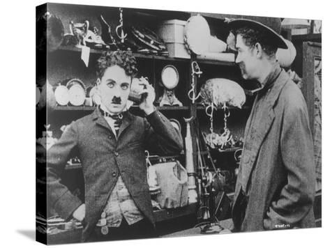 Chaplin: 'The Pawnshop'--Stretched Canvas Print