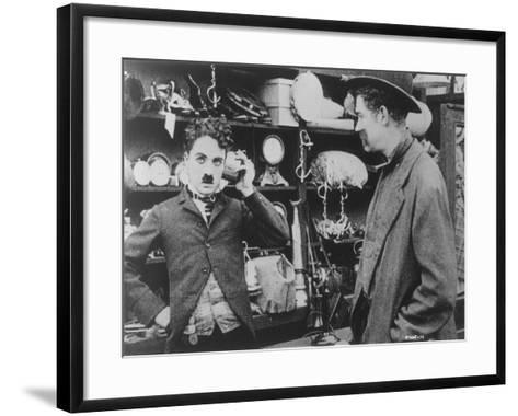 Chaplin: 'The Pawnshop'--Framed Art Print