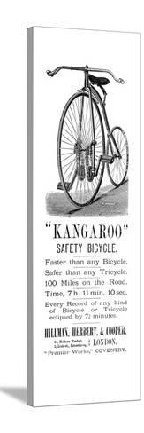 Bicycle Ad, 1885--Stretched Canvas Print
