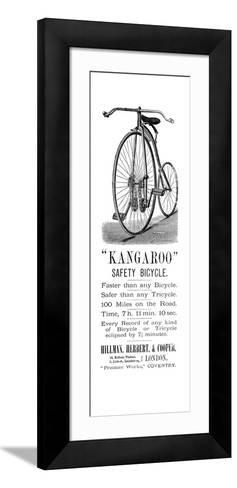 Bicycle Ad, 1885--Framed Art Print