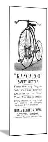 Bicycle Ad, 1885--Mounted Giclee Print