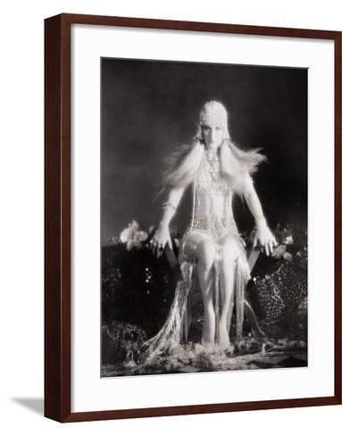 Silent Film Still: Costume--Framed Art Print