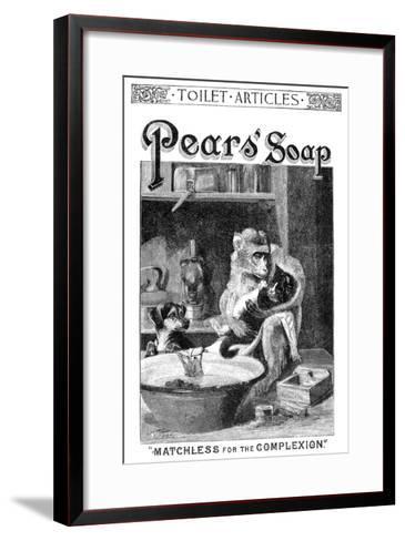 Pears' Soap Ad, 1888--Framed Art Print