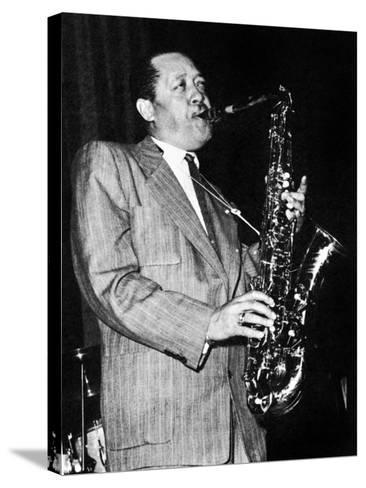 Lester Young (1909-1959)--Stretched Canvas Print