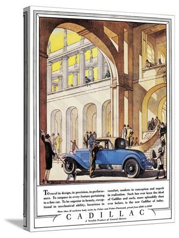 Cadillac Ad, 1927-J^M^ Cleland-Stretched Canvas Print