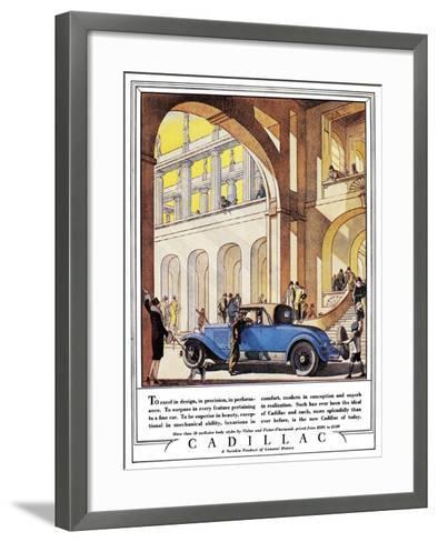 Cadillac Ad, 1927-J^M^ Cleland-Framed Art Print