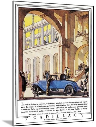 Cadillac Ad, 1927-J^M^ Cleland-Mounted Giclee Print