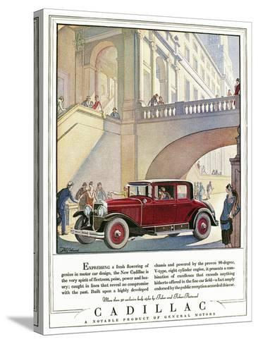 Cadillac Ad, 1928-J^M^ Cleland-Stretched Canvas Print