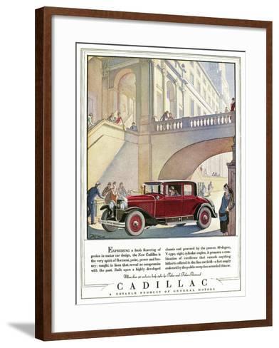 Cadillac Ad, 1928-J^M^ Cleland-Framed Art Print