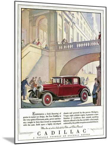 Cadillac Ad, 1928-J^M^ Cleland-Mounted Giclee Print