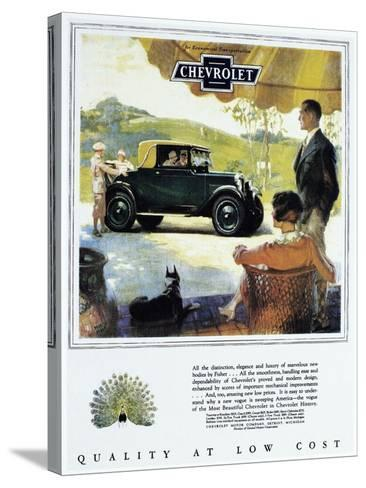 Chevrolet Ad, 1927--Stretched Canvas Print
