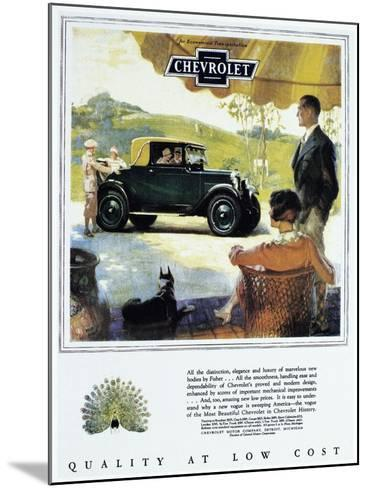 Chevrolet Ad, 1927--Mounted Giclee Print