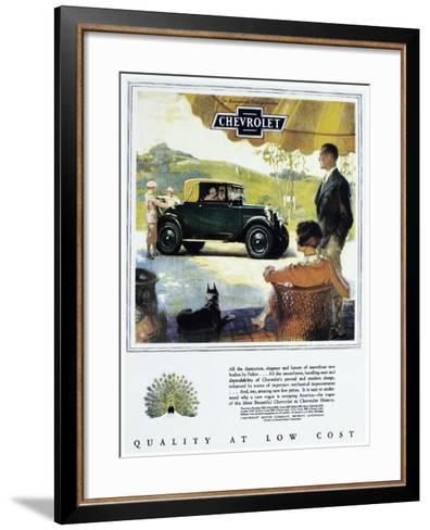 Chevrolet Ad, 1927--Framed Art Print