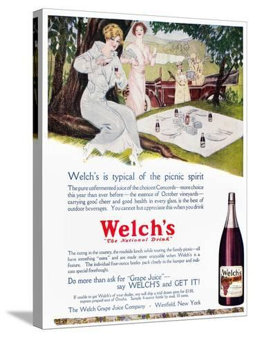 Welch's Grape Juice, 1914--Stretched Canvas Print