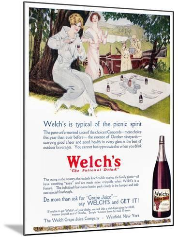 Welch's Grape Juice, 1914--Mounted Giclee Print