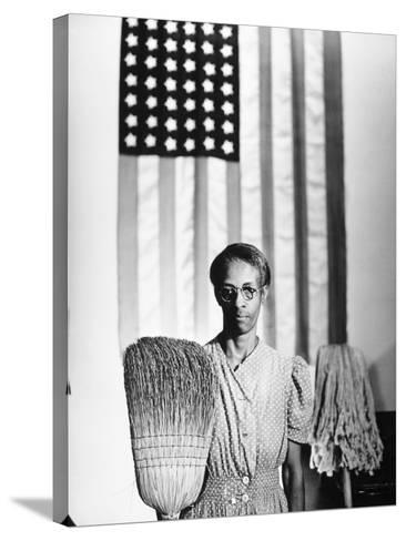 American Gothic, 1942-Gordon Parks-Stretched Canvas Print
