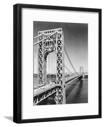 George Washington Bridge--Framed Art Print