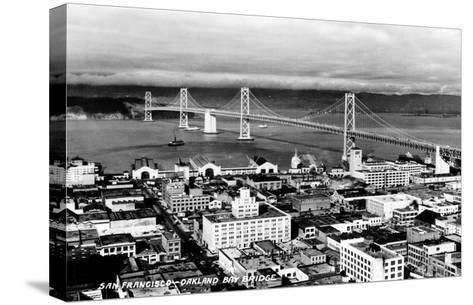 California: Bay Bridge--Stretched Canvas Print