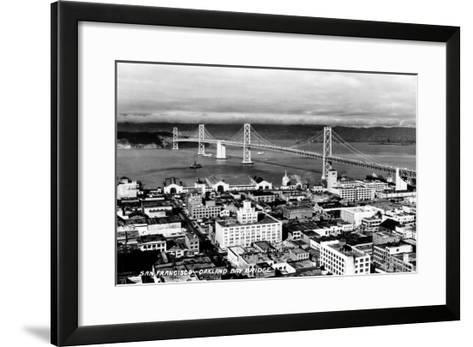 California: Bay Bridge--Framed Art Print