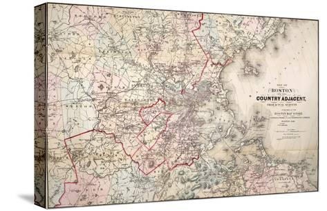 Map: Boston, 1883- Cupples, Upham & Co.-Stretched Canvas Print