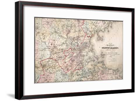 Map: Boston, 1883- Cupples, Upham & Co.-Framed Art Print