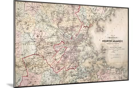 Map: Boston, 1883- Cupples, Upham & Co.-Mounted Giclee Print