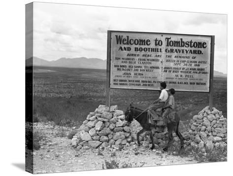 Arizona: Tombstone, 1937-Dorothea Lange-Stretched Canvas Print