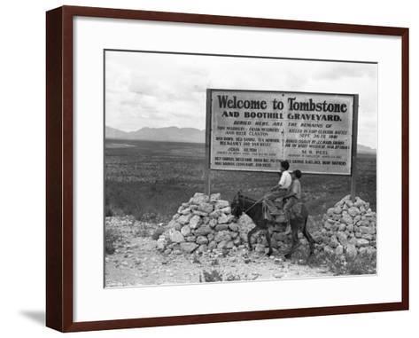 Arizona: Tombstone, 1937-Dorothea Lange-Framed Art Print