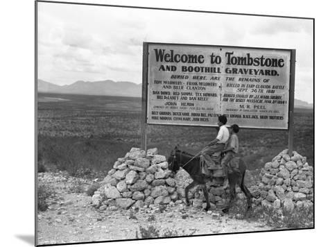 Arizona: Tombstone, 1937-Dorothea Lange-Mounted Giclee Print