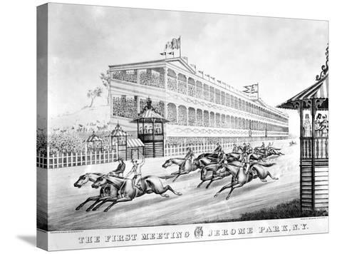 Bronx: Horse Race, 1866--Stretched Canvas Print