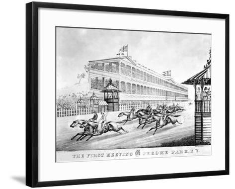 Bronx: Horse Race, 1866--Framed Art Print