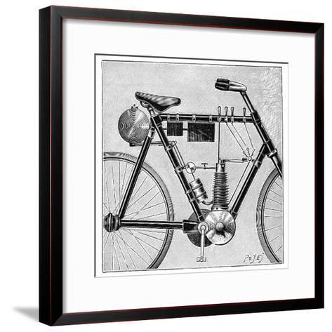 Motorcycle, 1895--Framed Art Print