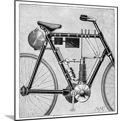 Motorcycle, 1895--Mounted Giclee Print