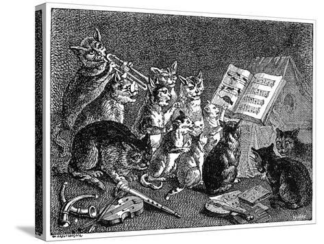 Breughel: Concert of Cats--Stretched Canvas Print