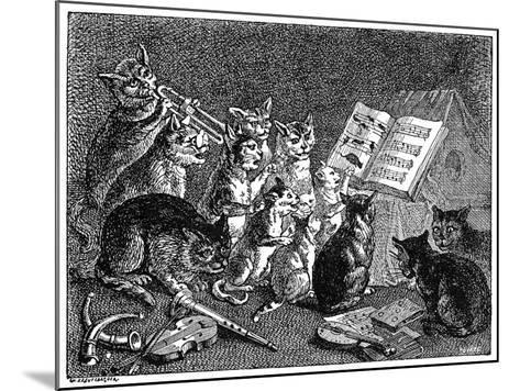 Breughel: Concert of Cats--Mounted Giclee Print