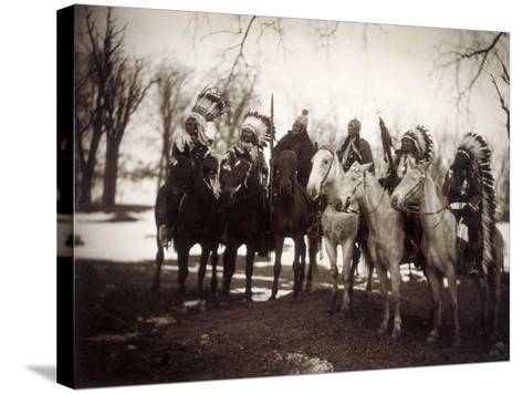 Native American Chiefs-Edward S^ Curtis-Stretched Canvas Print